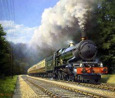 The Power and the Glory Philip D Steam Trains Uk, Old Steam Train, Diesel Locomotive, Steam Locomotive, Steam Art, New England Fall, Steam Railway, Bonde, Train Art
