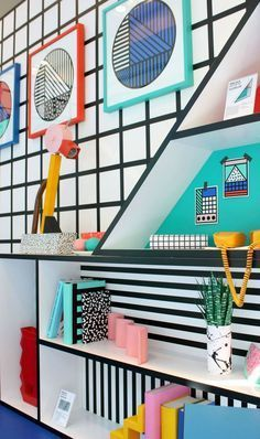 Learn more about Essential Home's pieces at http://essentialhome.eu/ and discover the best pop art inspired interior design for your new bedroom project! Micentury and still modern lighting and furniture