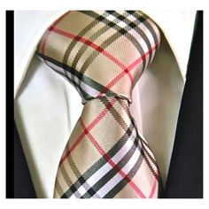 Brown Plaid Neckties for Men, 100% Woven Ties for Mens Gift Ideas
