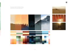 The Art of Journey - Intriguing presentation of colour palettes