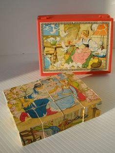 Vintage Wood Block Puzzle I loved these block puzzles when I was young. My Childhood Memories, Childhood Toys, Sweet Memories, Good Old Times, The Good Old Days, Vintage Wood, Retro Vintage, Vintage Games, Retro Toys