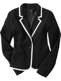 Old Navy Women's Jersey-Fleece Blazer