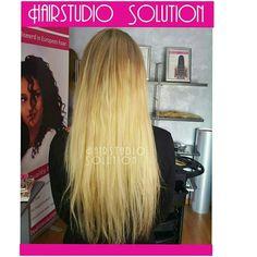 Goudblond brasilian hairweave verlenging