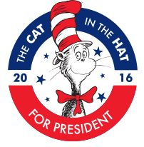 Just discovered this! The Cat in the Hat is running for President as the kid's…