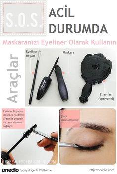 Biten eyeliner'ınızın yerine maskaranızı kullanabilirsiniz.