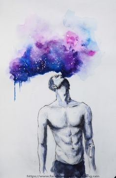 watercolor, Galaxy, bút kim, painting | Drawing Pencil | Pinterest ...