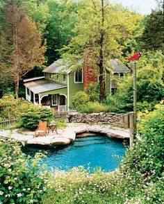 farmhouse with a rock swimming pool Oh my sweet heavens! Please!