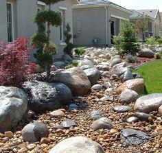 Dry River Bed Landscaping Ideas | Landscape Installation - Truckee River Rock & Nursery
