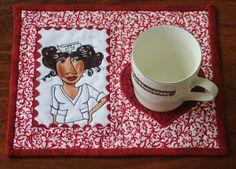 Nifty Nurse Mug Rug  Quilted Mug Rug  i have this panel