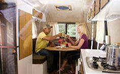 Scamp Camper, Scamp Trailer, Small Camper Trailers, Lite Travel Trailers, Travel Camper, Small Campers, Rv Campers, Bus Interior, Trailer Interior