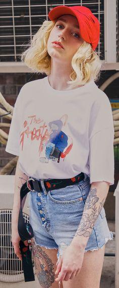 아티스트 해일과의 콜라보로 만들어진 프린팅 티셔츠, 위너 송민호 착용제품 입니다. Model 170cm / M size