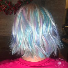 unicorn opal hair Unicorn Hair Color, Opal Hair, Pastel Hair, Purple Hair, Alternative Hair, Coloured Hair, New Hair 2018, Hair Inspiration, Hair Inspo