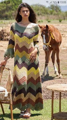 Crochet Beach Dress, Crochet Girls, Crochet Baby, Crochet Shawl, Knit Crochet, Dress Patterns, Crochet Patterns, Crochet Fashion, Crochet Clothes