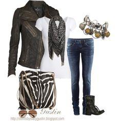Valentio Black & White Zebra Print Shoulder Bag