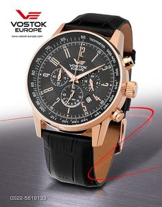 Vostok Europe Gaz-14 Limousine Chrono Gold/Black Watch OS22/5619133
