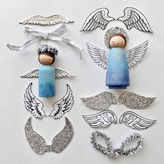 DIY Peg Doll Angel Ornament. Beautiful handmade holiday ornaments you can make with kids.