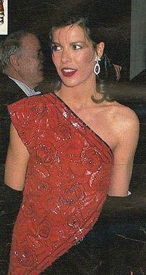 Carolina en Baile Cruz Roja en 1985