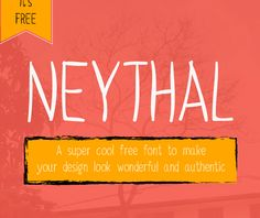 Neythal Free Font #FreeFont from http://ortheme.com
