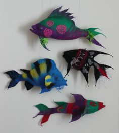 Finished felted fish
