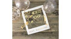 Arany esküvői fotókellék szett, Nicol Party Kellék Bolt