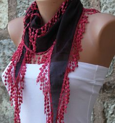 Dark Brown Scarf- by fatwoman, $13.50