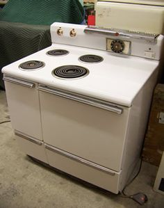 Frigidaire oven stove warmer combo 1950 39 s era vintage for What is the bottom drawer of an oven for