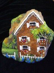 Manor House Painted Rock