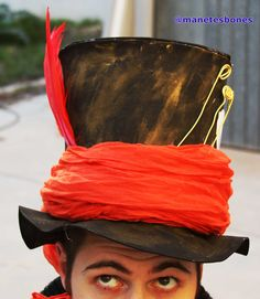 Sombrero del sombrerero loco hecho con goma eva