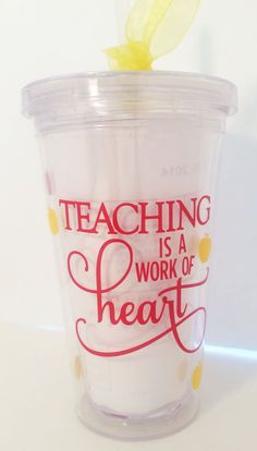Teaching is a work of Heart Teacher Tumbler by PersonalizedbyDawn, $12.00