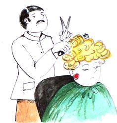 A hairdresser  by Kamila Guzal-Pośrednik
