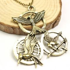 The Hunger Games Triple Mockingjay Statement Necklace