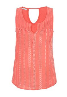 embroidered peek-a-boo back swing tank (original price, $26) available at #Maurices