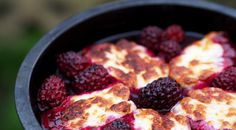 Wood-fired halloumi and blackberry bites made in the Uuni 2 portable wood-fired oven for pizza and beyond! Follow link for recipe.