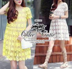 Crochet flowers lace dress  ♥Odee&Cutie Daily Fashion 2015♥  เดรสลูกไม้โครเชต์ ทอแน่นละเอียด ไม่บางนะคะ ดีเทลตัดต่อซับในสีเนื้อ ช่วงกระโปรงระบายรอบตัวค่ะ ทรงสวยเหมือนนางแบบ ❤  Odee&Cutie นำเข้าสินค้า Premium quality Korea สาวๆพลาดไม่ได้นะคะ cutting✂เนี๊ยบประณีตการันตีคุณภาพค่ะ   สนใจ ติดต่อ :  Facebook   : www.facebook.com/adsdress  Line            : @adsdress Instagram   : @adsdress Tel.              : 0986967889 E-mail         : adsdress@hotmail.com