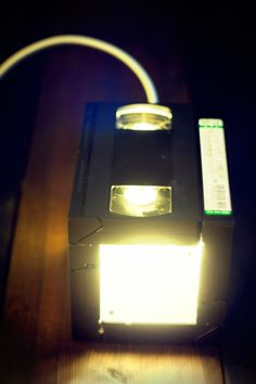 Here are lamps I made out VHS tapes. The VHS LAMP