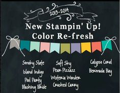 idea for stampin up new in colors - Google Search