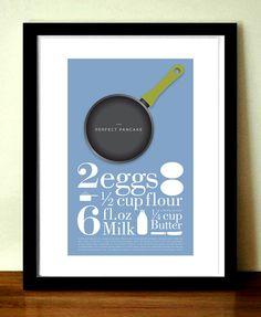 Kitchen Art Kitchen Print The Perfect Pancake by visualphilosophy, $24.99