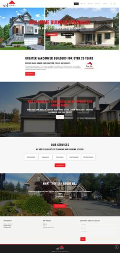 New WordPress website for Lower Mainland builder Sel Homes. Real Estate Site, Vancouver, Wordpress, Homes, Mansions, Website, House Styles, Building, Home Decor