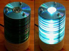 INGENIO MEXICANO: COMO HACER UNA LAMPARA CON CDS