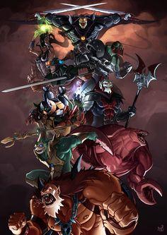 HE-MAN Villain Art - Warriors of Snake Mountain — Megan Berry  http://squiniondominion.blogspot.co.uk