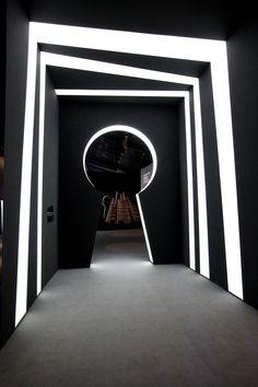 Hallway - 2011 Vertu Constellation Launch Shanghai on Behance Best Hd Background, Picsart Background, Photo Background Images, Photo Backgrounds, Stand Design, Display Design, Booth Design, Exhibition Space, Light Art