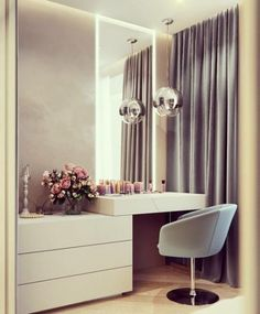 Receive great recommendations on cheap home decor for apartments. Bedroom Bed Design, Bedroom Furniture Design, Modern Bedroom Design, Home Decor Bedroom, Home Interior Design, Modern Bedrooms, Deco Furniture, Ikea Dressing Room, Dressing Table Design