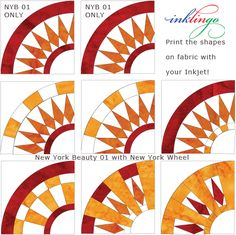 Broken Wagon Wheel Quilt Pattern | The variations are endless. These are all 6 inch blocks (finished size ...