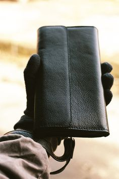 Men's leather Clutch in black. Business mens by TropaeisLeather