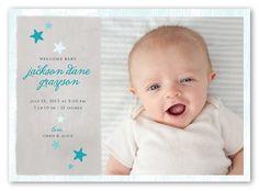 Stardust Sweet Boy Birth Announcement | Announcements