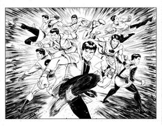 A Legion of Karate Kids by Cory Smith (via Travis Ellisor) Dc Comic Books, Comic Art, Cory Smith, Superhero Coloring Pages, Legion Of Superheroes, Another World, Dc Universe, Karate, Dream Big