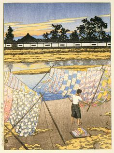 Kawase Hasui, Twilight at Kamo River, Kyoto, 1923