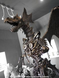 Steampunk The Metal Giant Dragon by Kreatworks on Etsy. $11,500.00 USD, via Etsy.