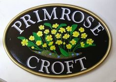 Pictorial House Signs from Yoursigns Ltd: House Name Sign with Primroses pictorial. Our cust...