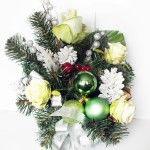 Stroik świąteczny, żywa jodła, własnoręcznie wykonany christmas wreath
